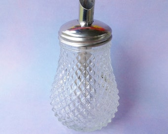 Beautiful glass sugar caster sugar bowl