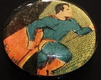 Vintage Superman Glass Pebble Magnet