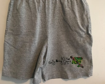 Kid's Hand Painted Frog Cotton Shorts