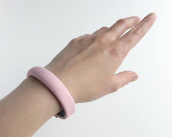 Pink leather bracelet / jewelry pink leather / leather strap / leather cowhide / woman bracelet