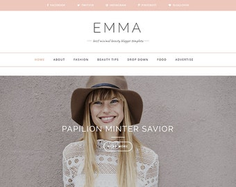 Emma - Clean & Responsive Personal Blogger Template