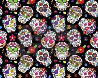 Floral Candy Skull Scrapbook Sheet Digital Download