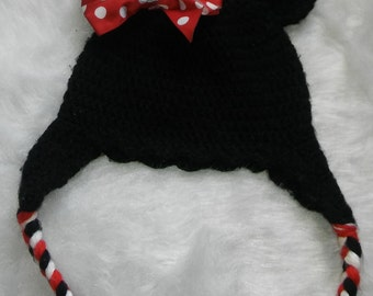 Minnie Mouse Ear Flap Hat