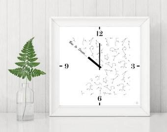 Card decorative clock Time to Dream