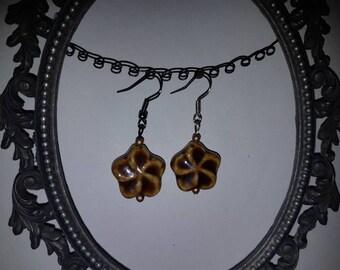 Vintage, Ceramic Flower Earings