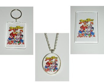 Duck Tales Scrooge McDuck Glass Pendant Necklace, Keychain, and or Magnet