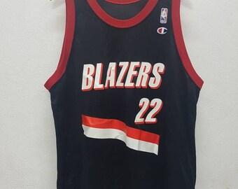 Vintage Champion Tanks Top Blazers Drexler #22 Basketball Jersey Nice Design Size 48