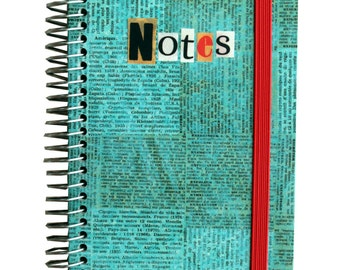 Notebook wire Typo Blue - A6