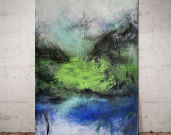 large original painting on canvas 100x70 cm, ready to hang