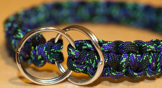 Paracord Dog Collar Adjustable Any Color Any Length