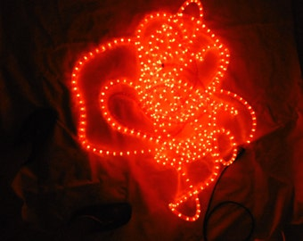 Fairy lights tube - Plastic - 18 m - Red / electric Garland tube - plastic - 18 m