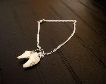 Coyote Tooth Silver Necklace
