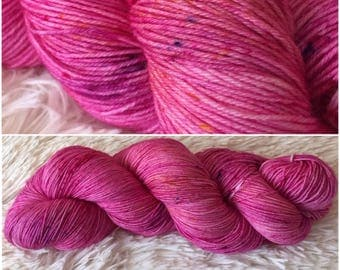 Hand dyed sock yarn - And A Pink Carnation