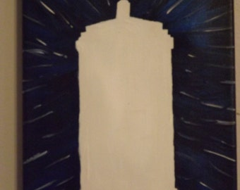 Doctor Who - TARDIS White Out - Painting