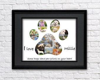 Labrador Retriever Dog Puppy Service Dog Canine Pet Paw Print Paw Collage Custom Paw Picture Collage Picture Collage Gift Digital Printable