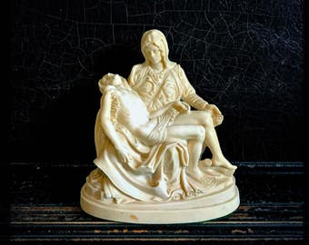 Vintage Mary And Jesus Sculpture | La Pieta Statue | Italian