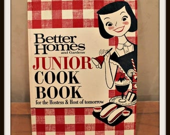 Better Homes and Gardens Junior Cook Book For The Hostess and Host of Tomorrow, Vintage Cook Book, Kids Cook Book