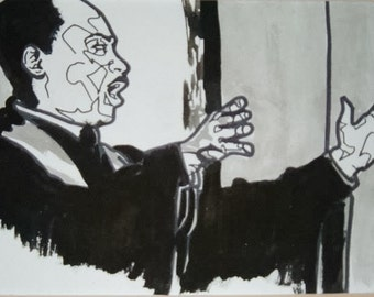 Dr. Martin Luther King Pen and Ink