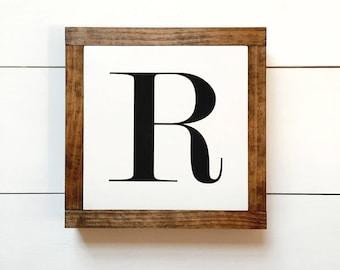 White Alphabet Mini Wood Sign | Home Decor | Monogram | Letter Sign | Gallery Wall | Housewarming Gift