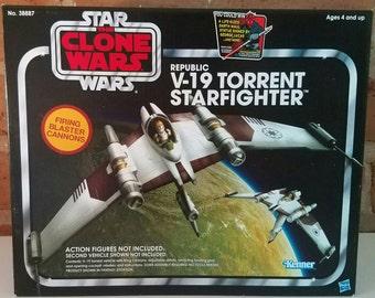 Star Wars Clone Wars V19 Torrent Starfighter Vintage collection MISB