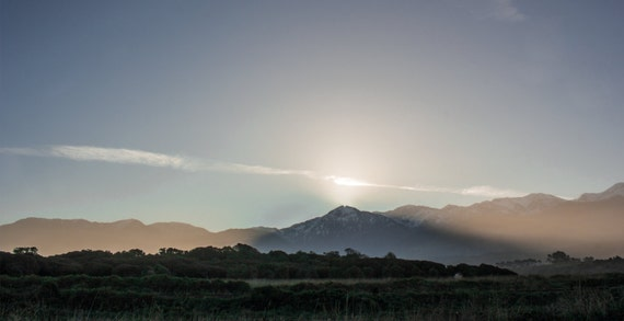 Postcard - sunset hills