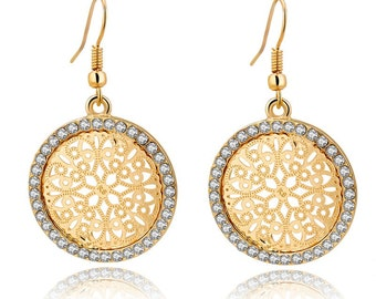 Handmade Drop Crystal Earrings