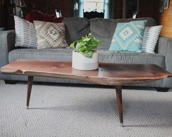 Dark Walnut Mid Century Modern Coffee Table