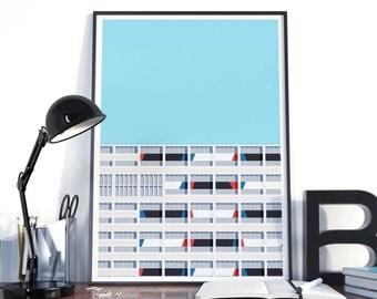 Poster graphic design poster architecture illustration Le Corbusier S03