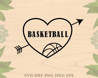 Basketball SVG ball svg Love Sports svg basketball mom svg Cut File EPS Dxf Files for Silhouette Studio Cricut Downloads Cricut files