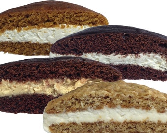 Bird-in-Hand Bake Shop Homemade, Hand-wrapped Whoopie Pies, Variety Pack, Favorite Amish Food (Pack of 12)