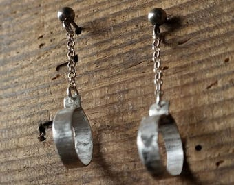 Long Silver Earrings, Silver Jewelry, Sterling Silver Earrings, Silver earrings, Hammered silver, Long earrings,