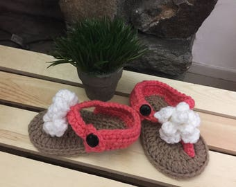 Spring sandals 6-9mo ready to ship