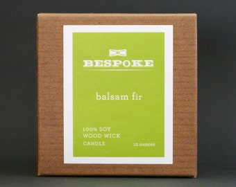 Balsam Fir Candle : Wood Wick Soy Candle