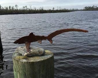 Metal Shark Sculpture