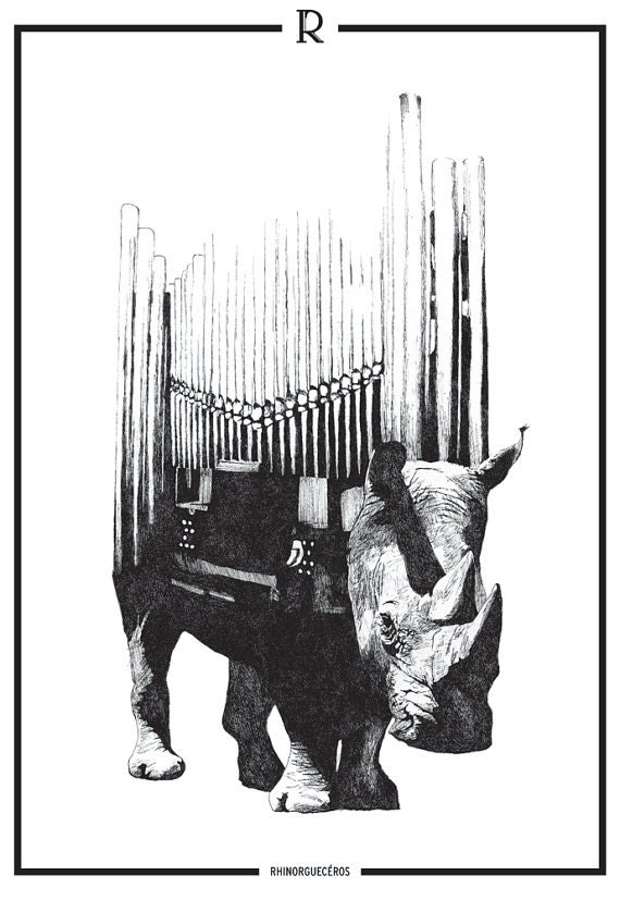 Rhinorgueceros [Animusicaux] - limited and signed print