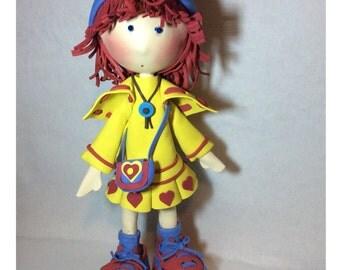 Sweet Red Hair Foam Doll