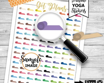 Yoga Stickers, Planner Stickers, Printable Stickers, Agenda Stickers, Yoga Planning Stickers
