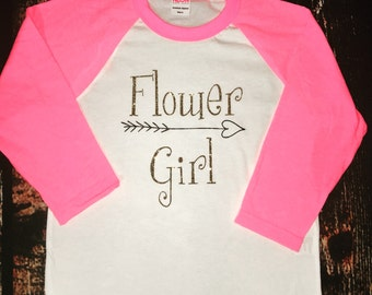 Wedding Flower girl baseball tee