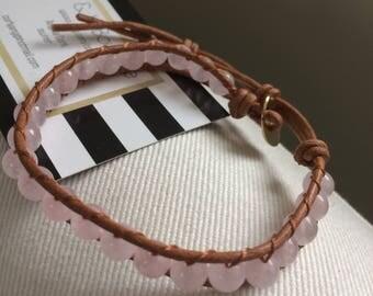 Popular selling Leather Wrap Bracelet, Bohemian Agate beaded leather wrap