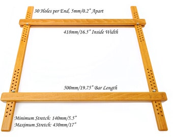500mm 1975 wooden embroidery slate frame european beech frame for hand embroidery - Embroidery Frames
