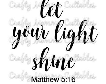 Let Your light shine SVG file // Christmas Cut File // Let your light shine SVG //  This little light of mine svg // God's light svg