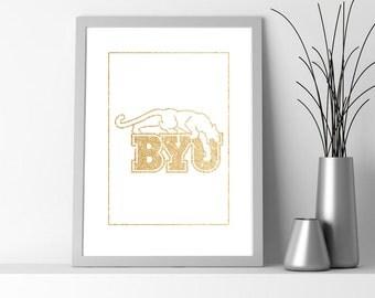 Gold BYU Printable 8.5x11 Poster