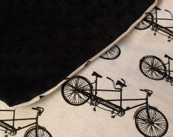 Vintage bicycle throwback blanket