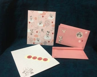 Disney Mickey and Minnie Mouse Stationery Set with Window Envelopes