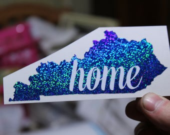 Home State Glitter Decal