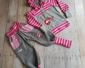 Bunny pants corduroy pants pink pink grey
