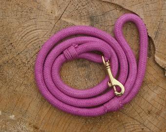 Pastel Pink Rope Leash, Rope dog leash, Natural Dog Leash, Cotton Rope, Pet Leash, Pastel Pink Leash
