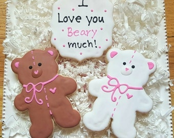 I Love You Beary Much Cookies Valentine's Day