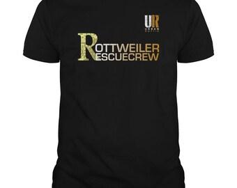 URBAN ROTTIE© Guys Rottweiler Rescue Crew T-shirt,rottweiler t-shirt,rottweiler tees,rottie tees,rottweiler shirts,rottweiler fans,rotties