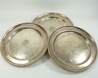 Silver Plate - Aerated Bread Company - 3 Serving Trays - Dirty Food Movement